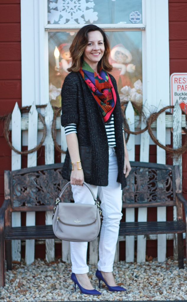 chunky-sweater-cardigan-and-heels
