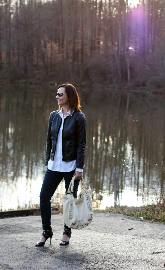 black-leather-jacket-white-shirt