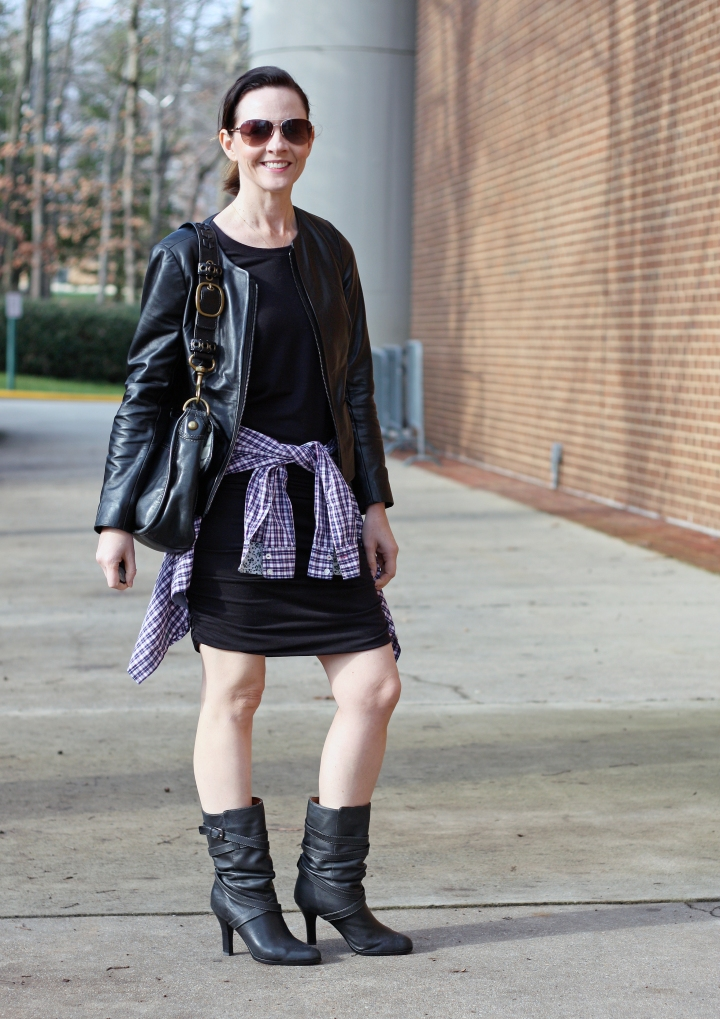 leather-jacket-and-dress