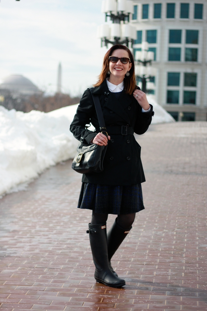 trench-and-flared-dress