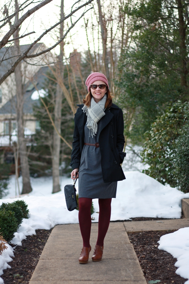 trench-and-knit-dress