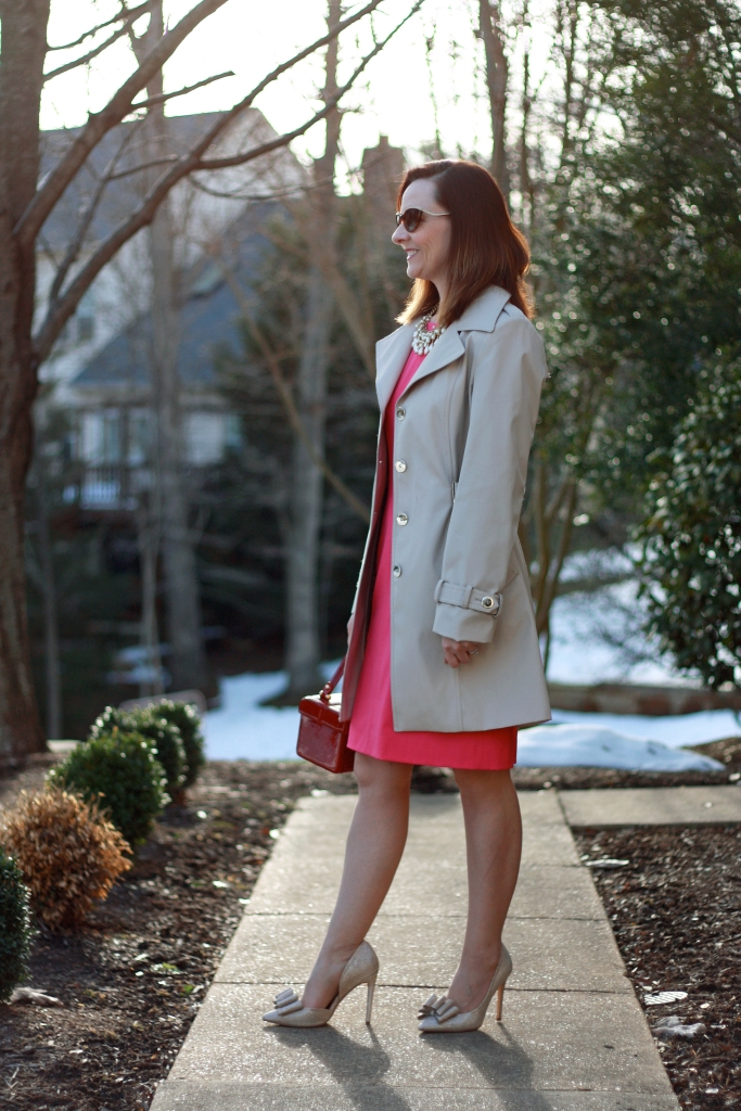 pink-dress-and-trench