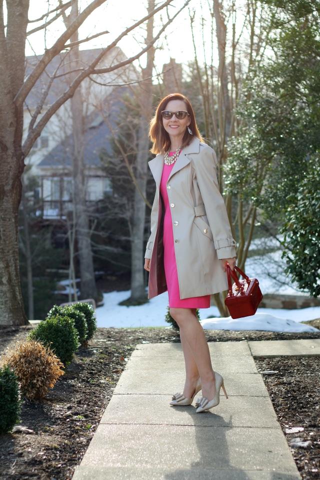 pink-flared-dress