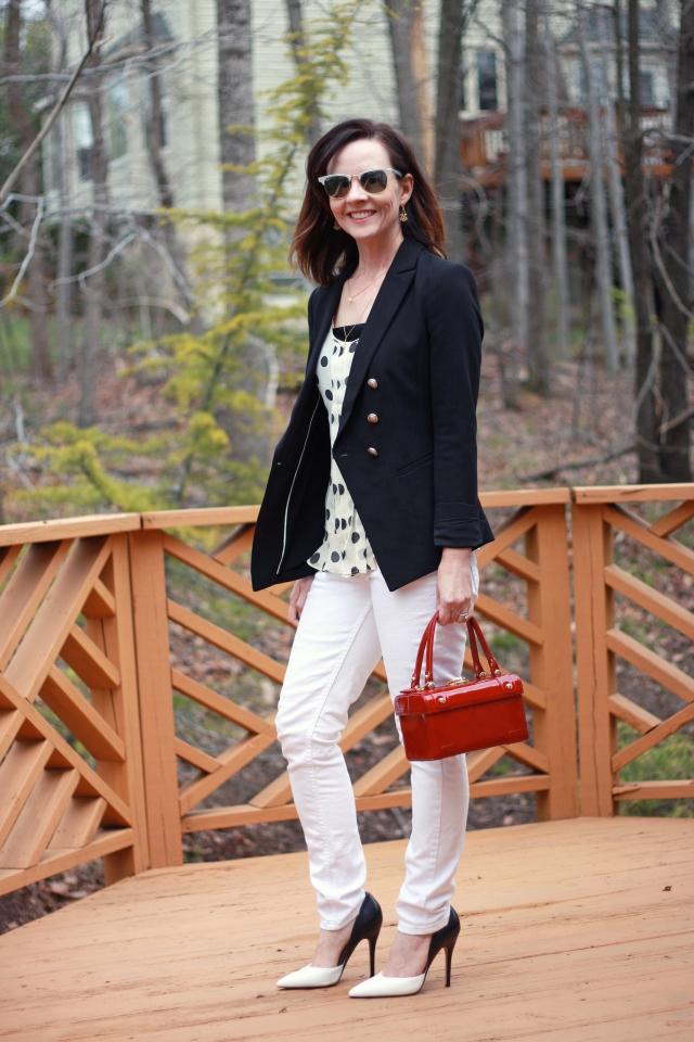 black-blazer-white-denim